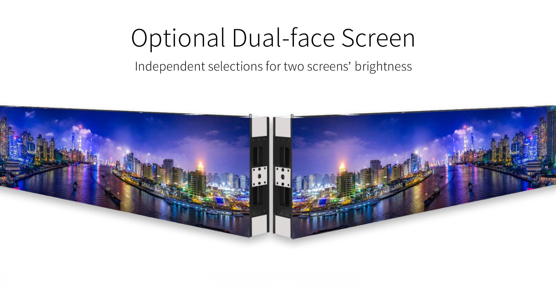 Double sided screen