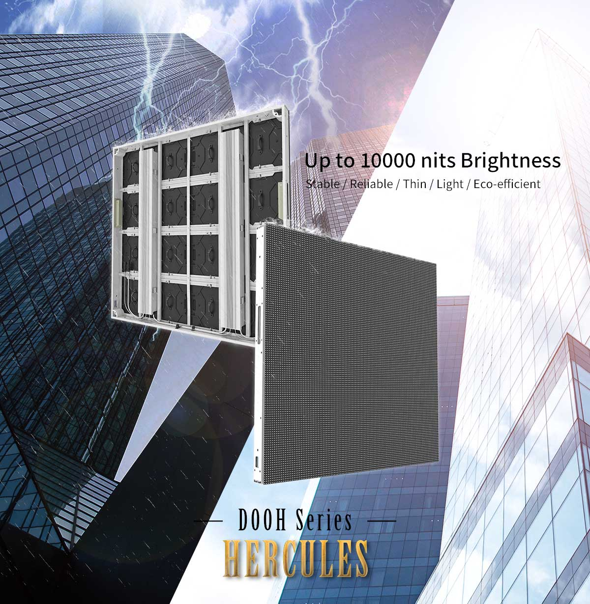 10000nits brightness outdoor fiexed led display