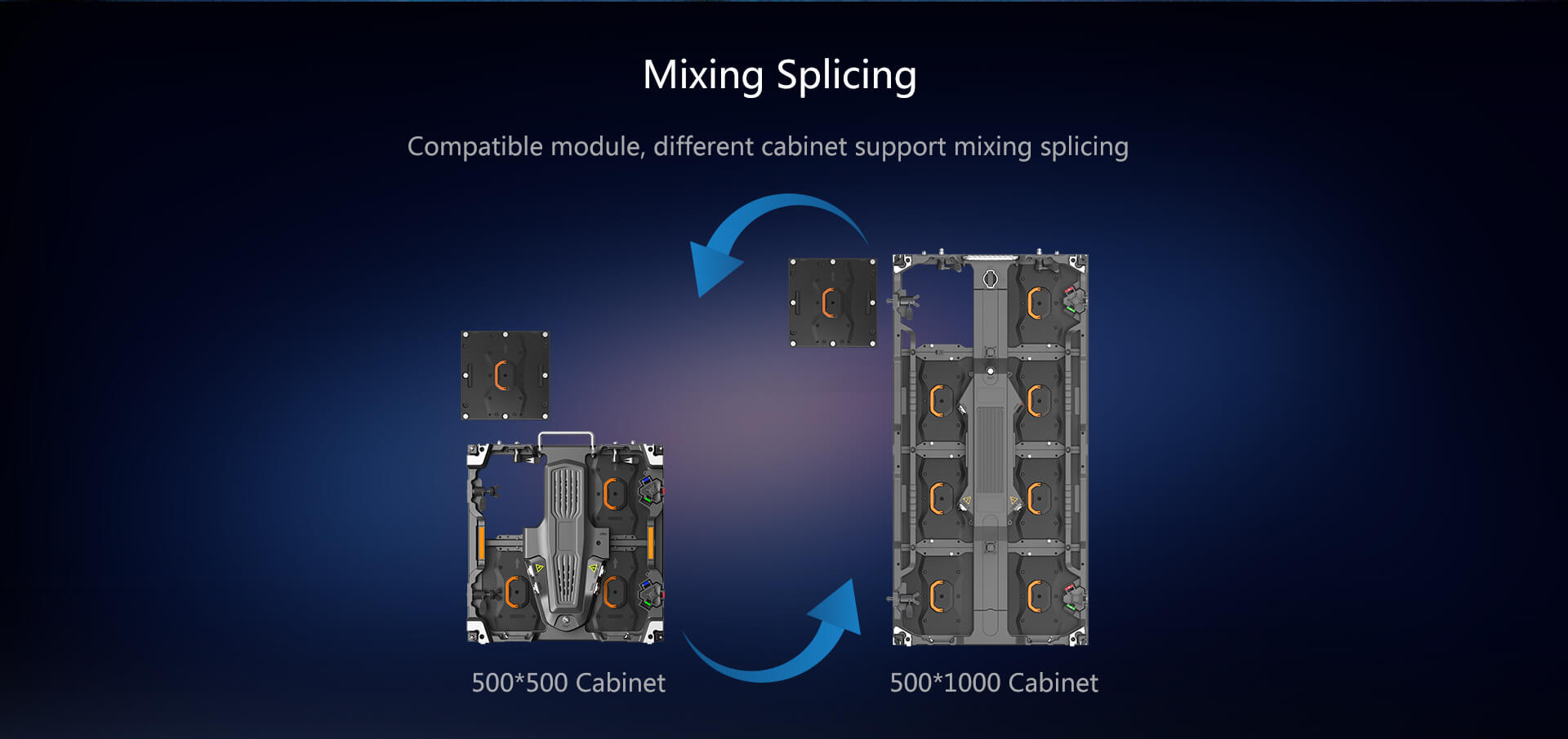 mixed splicing led wall