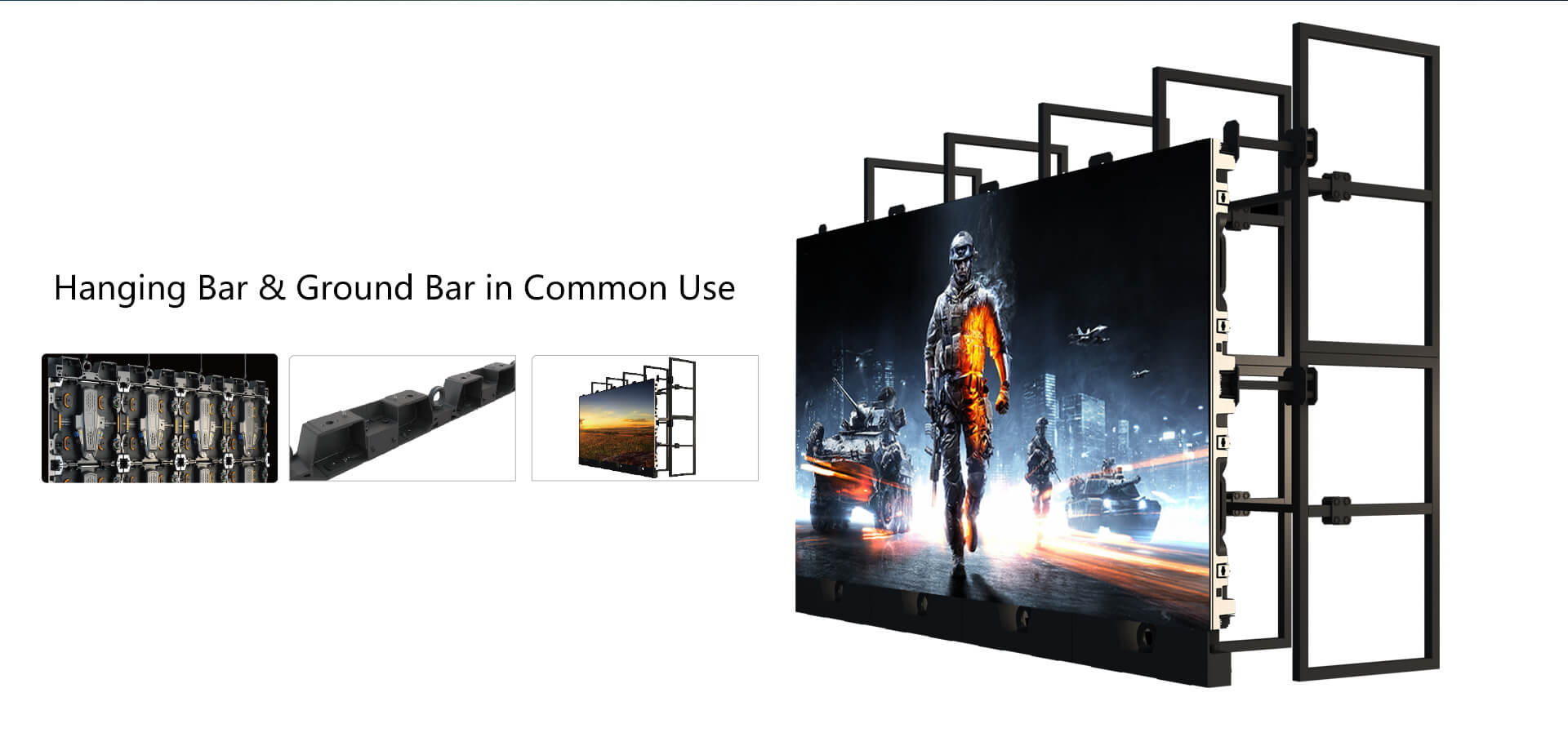 hanging led video wall