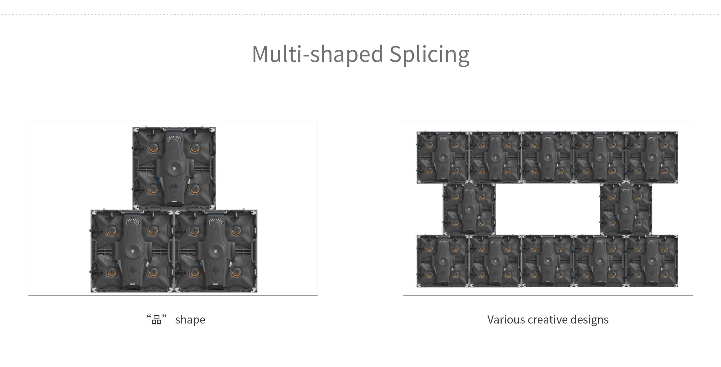 shaped splicing led video wall