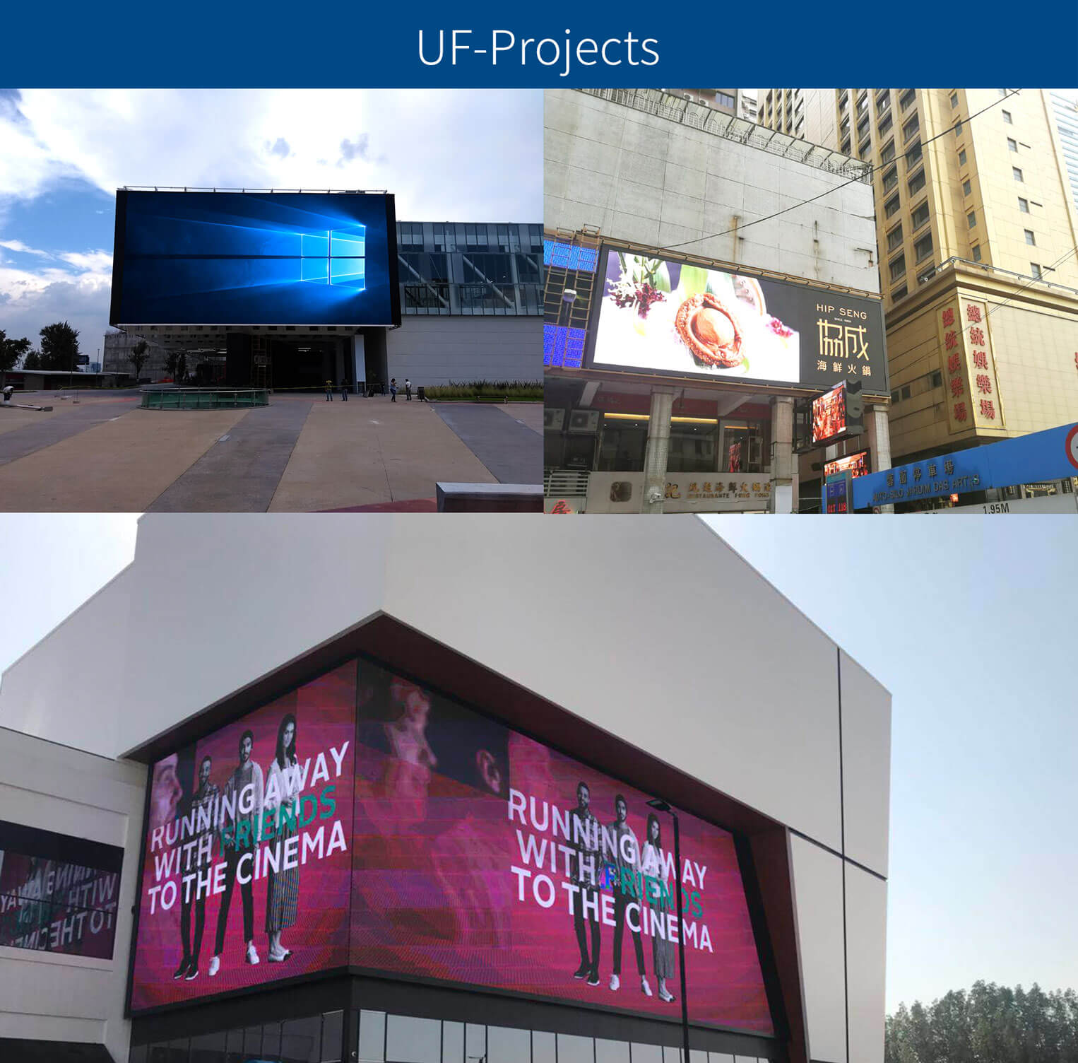 outdoor fixed advertising led screen