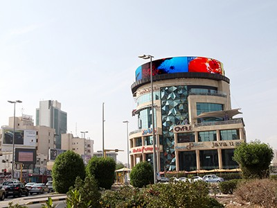 OA P10 for outdoor advertising (Curved screen), Kuwait