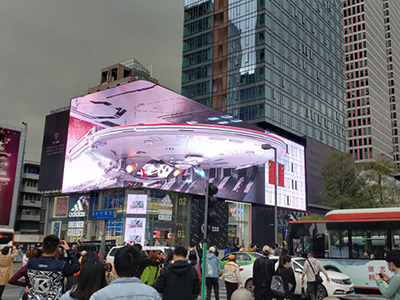 Glasses-free 3D outdoor LED display enhances user sensory experience