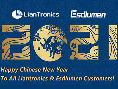 Happy Spring Festival to Liantronics & Esdlumen's Customers!