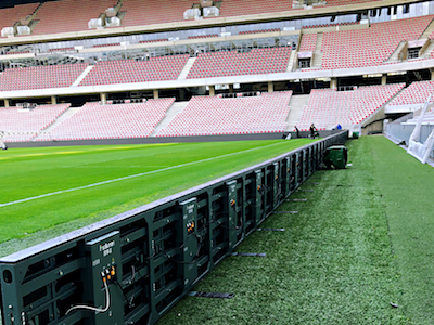 XP series P10 was used for stadium, France